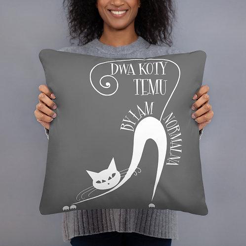 Basic Pillow Dwa Koty Temu Grafit