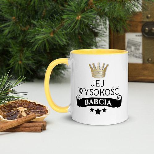 Mug with Color Inside Jej Wysokosc Babcia