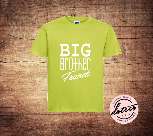 PERSONALISED BIG BROTHER T SHIRT