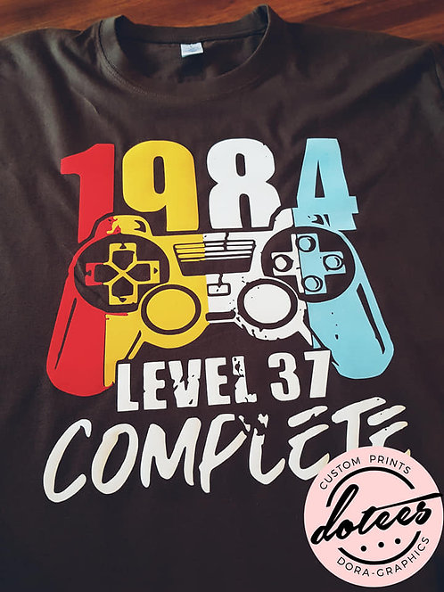 VINTAGE GAMER... PERSONALISED
