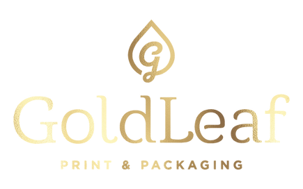 Gold Leaf Print & Packaging Logo
