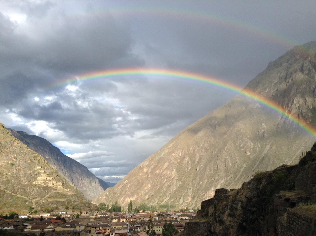 Double Rainbow (Ollantaytambo)