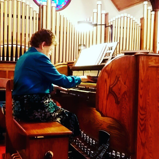 Joyce Jones playing the Casavant we recently renovated and expanded