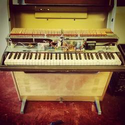 Weekend work!  Pretty little Wurlitzer keyboard rebuild