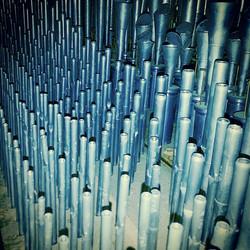 Cone tuned pipes, in a Schlicker...