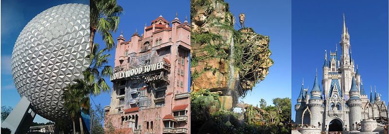 Disney's Magic Kingdom, Epcot, Hollywood Studios, Animal Kigndom