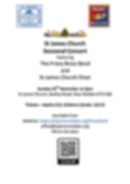 St James Church Festive Concert flyer 20