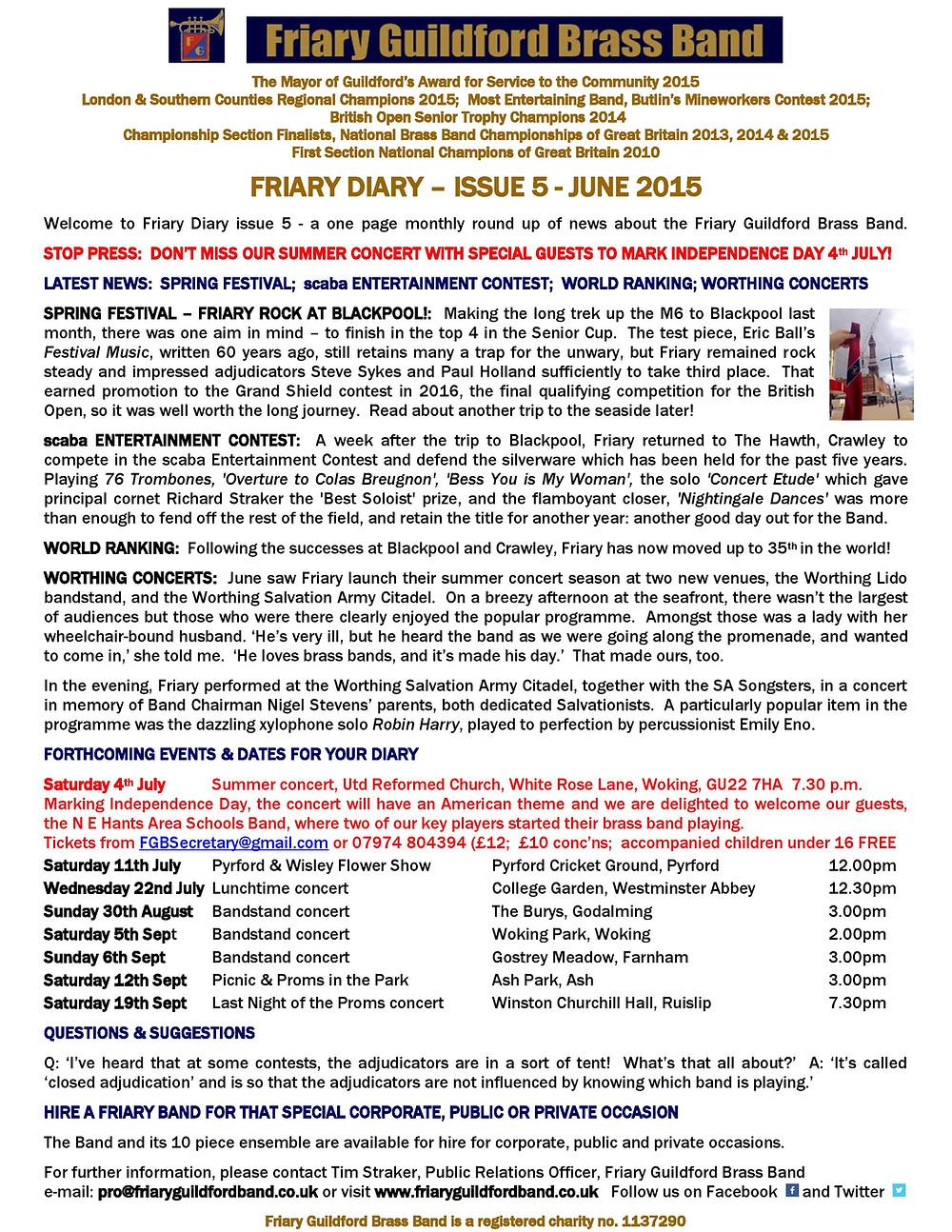 Friary Diary June 2015.jpg