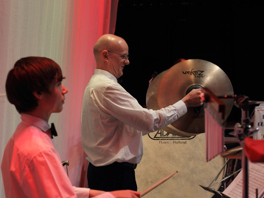 Percussionist Mike Hits the Road