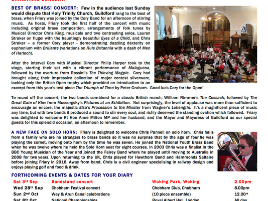 Friary Diary - August 2016