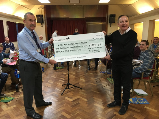 Air Ambulance Receives Boost From Friary Guildford Band