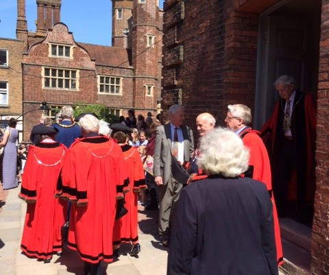 Friary Representative Attends Civic Service For Guildford's New Mayor