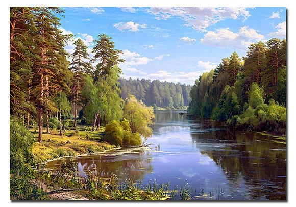"""Картина """"Лесной разлив"""""""