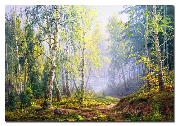 "Картина ""Утро в березовом лесу"""