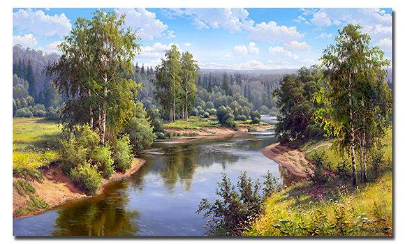 """Картина """"Проточная река"""""""