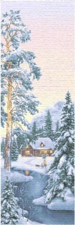 Зимний лес 110х35