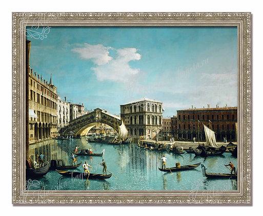 "Каналетто, ""Венеция. Мост Риальто""."