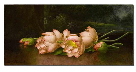 """Картина_Хед М., """"Цветы лотоса"""""""