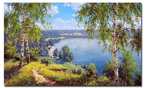 """Картина """"На берегу реки"""""""