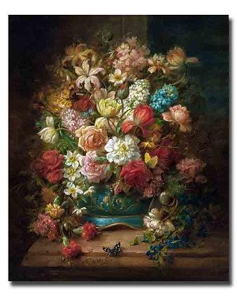 "Зацка Х., ""Натюрморт с цветами и бабочками"""