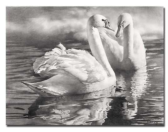 """Картина """"Два лебедя"""""""