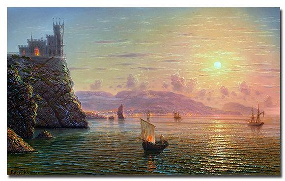"Картина ""Лунная ночь. Вид на Ялту"""