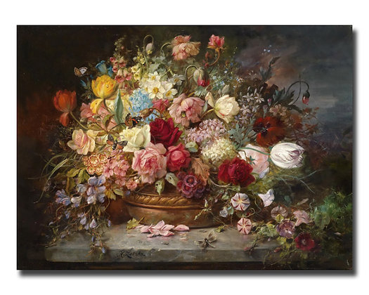 "Зацка Х., ""Букет цветов в медной вазе"""