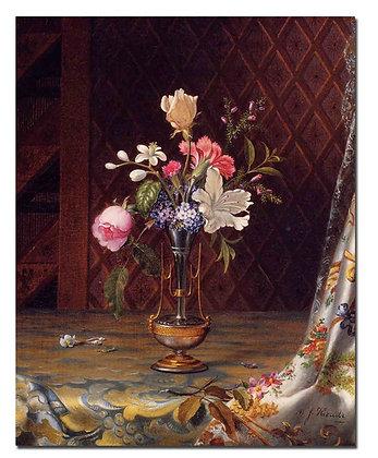 """Картина_Хед М., """"Цветочный букет в вазе"""""""
