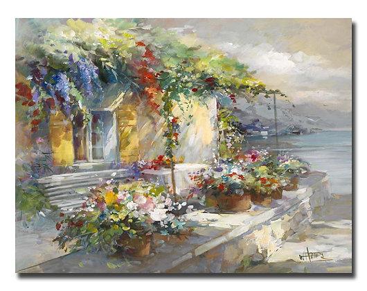 "Картина ""Веранда с видом на море"""