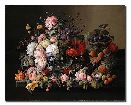 """Розен С., """"Натюрморт цветы и фрукты"""""""