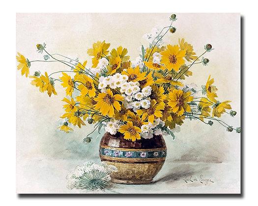 """Картина_Лонгпре П., """"Желтые цветы"""""""