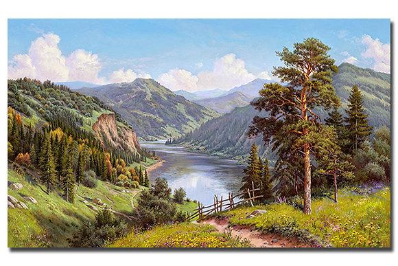 """Картина """"Горная долина"""""""