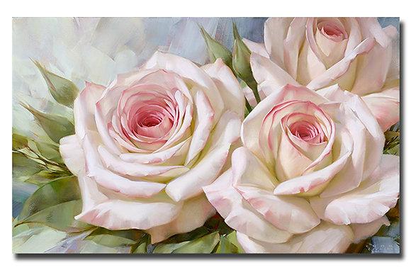 """Картина """"Бело-розовые розы 2"""""""