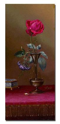 """Картина_Хед М., """"Роза в вазе"""""""