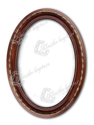 Рама овальная деревянная Д 207-01