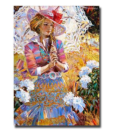 """Картина """"Девушка с ажурным зонтиком"""""""