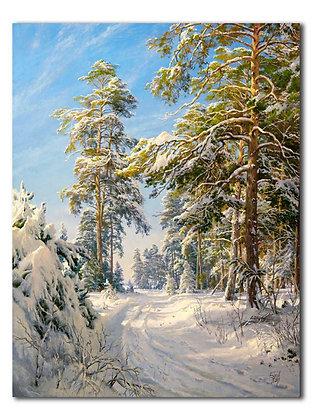 """""""Сосновый лес зимой"""""""