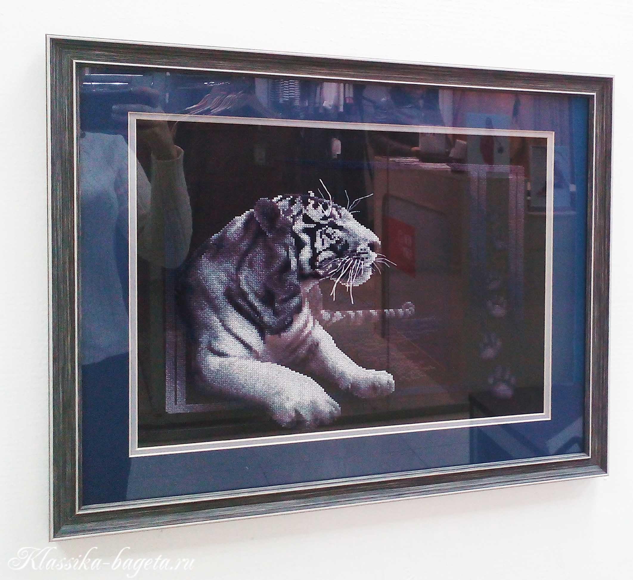 """Вышивка крестом """"Белый тигр"""""""