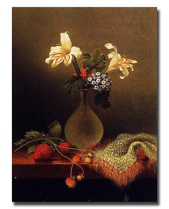 "Картина Хед М._""Ваза с лилиями и гелиотропом"""