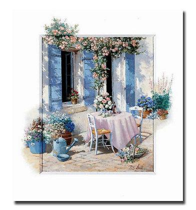 "Картина ""Цветы у двери"""