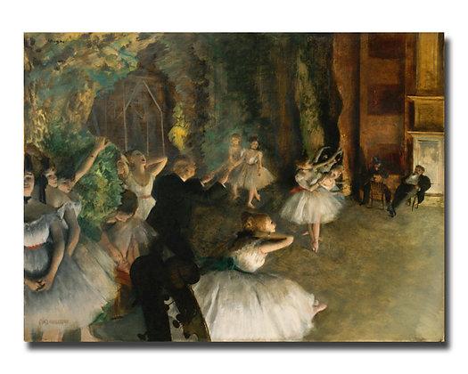 """Дега Э., """"Репетиция балета на сцене"""""""