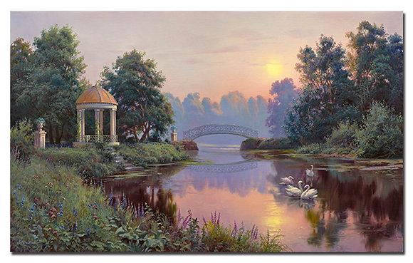 """Картина """"Утренний парк"""""""