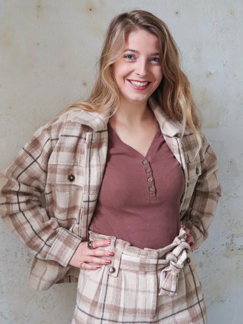 Duurzaam pak ruiten duurzaam wol en pet