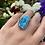 Thumbnail: Ornate Raw Turquoise Ring