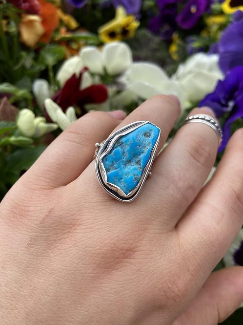 Ornate Raw Turquoise Ring