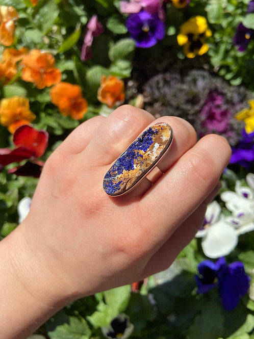 Azurite in the Rough Ring
