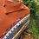 Thumbnail: Button Collar Fringe Poncho - Orange