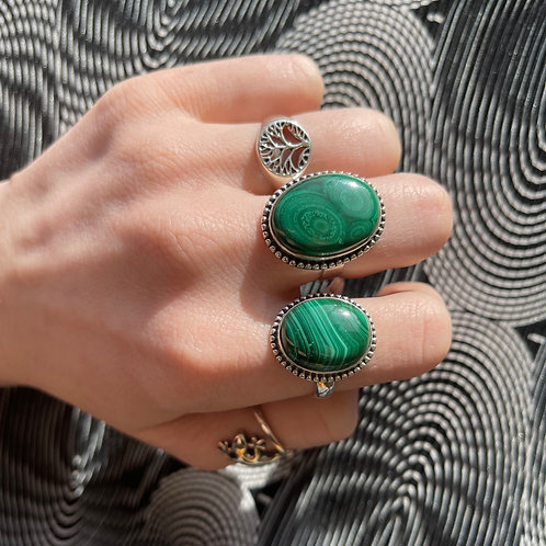 Mystery Malachite Ring