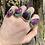 Thumbnail: Ravenous Ruby Zoisite Teardrop Rings