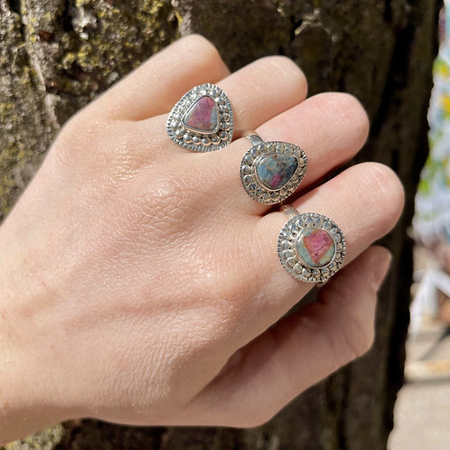 Ring around the Ruby Zoisite Rings